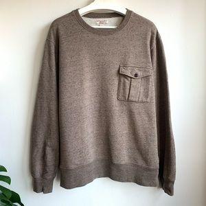 Wallace & Barnes brown speckled sweatshirt EUC